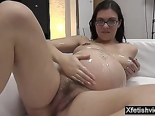 brunette private casting tube